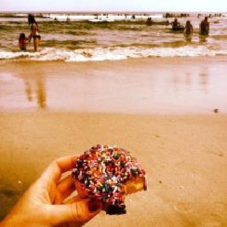 Shore Good Donuts: Donut on Beach