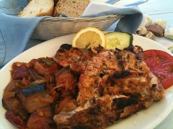 Fisilanis Restaurant: Chicken chops & melanzane