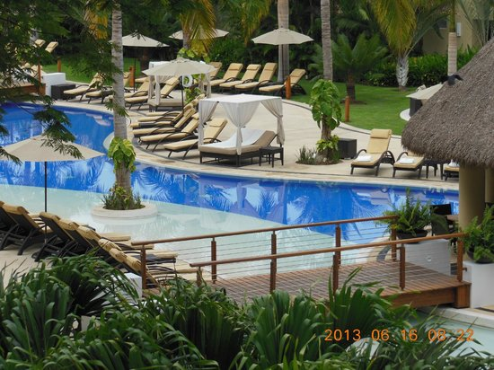 Marival Residences Luxury Resort: Another view of the main pool from our room