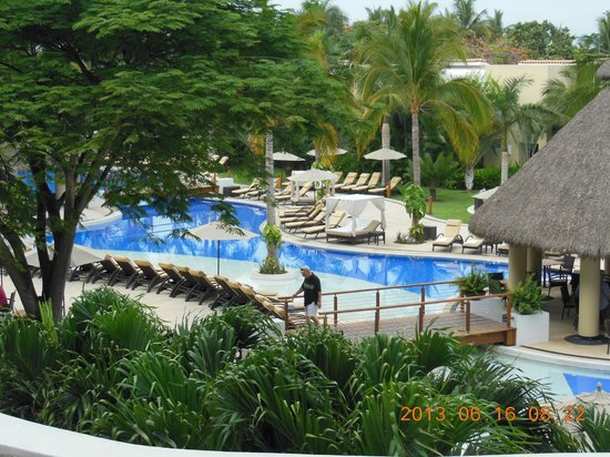 Marival Residences Luxury Resort: View of the main pool from our room