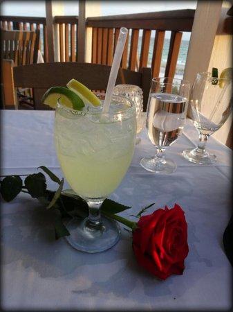 Henderson Park Inn: A rose with dinner
