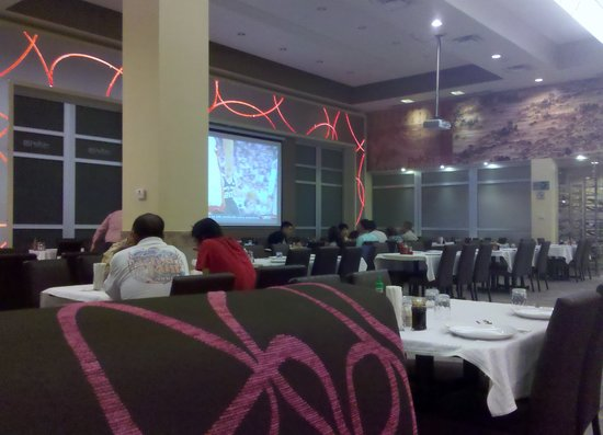 Pekin Restaurant: Asked the waiter to play the NBA finals game on the big projector!