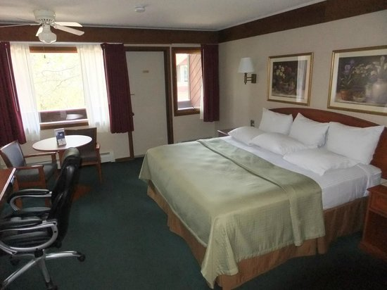 BEST WESTERN Ptarmigan Lodge: our king room with door to the balcony in the background
