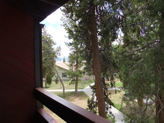 Best Western Ptarmigan Lodge: view from our balcony in building #3 (in the distance you can see the Lake Dillon)