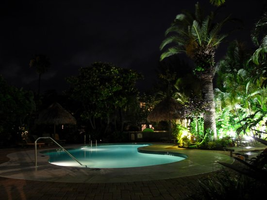 Sunrise Garden Resort: pool by night