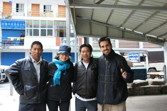 Lhasa, China: Customers and friends