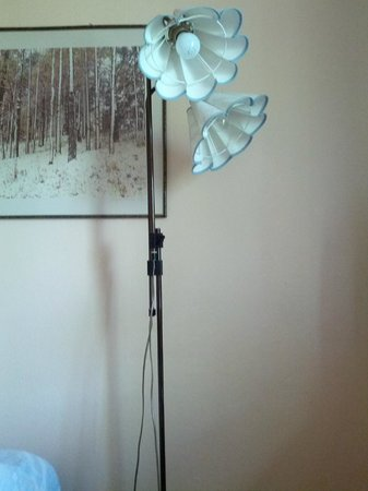 Hotel Restaurant Nurmeshovi: два проводочка втыкаются в две розеточки(по одному для каждой лампочки), а если лампочек будет п