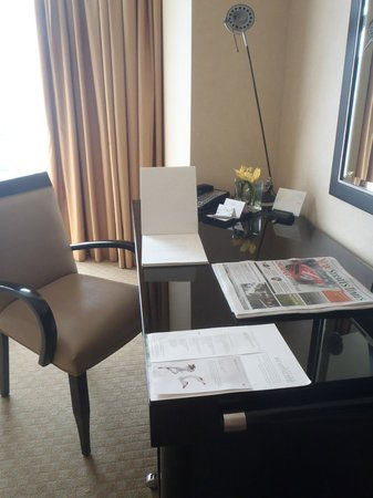 The Westin Kuala Lumpur: The writing desk area by day
