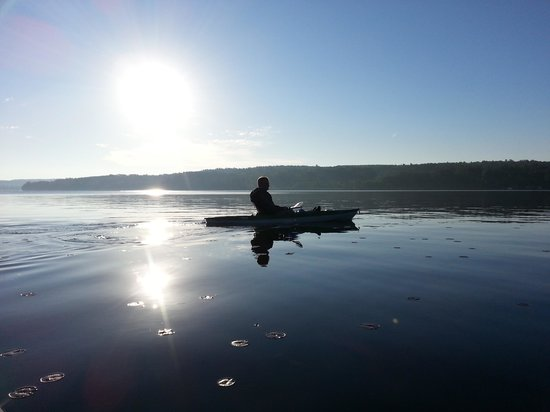 The Lake House at Ferry Point: Kayaking at sunrise
