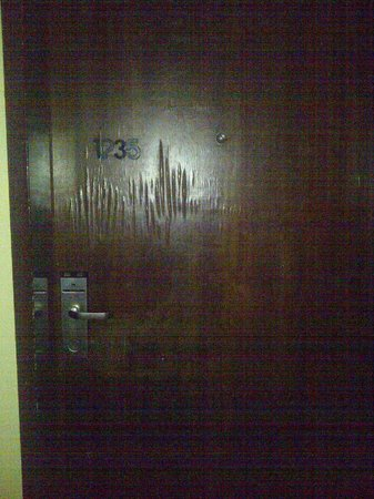 Sheraton Abuja Hotel : That was my door.