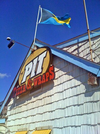 The Pit - Boardriders Grill: Outside the Pit