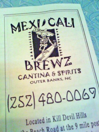 MexiCali Brewz: Menu Cover