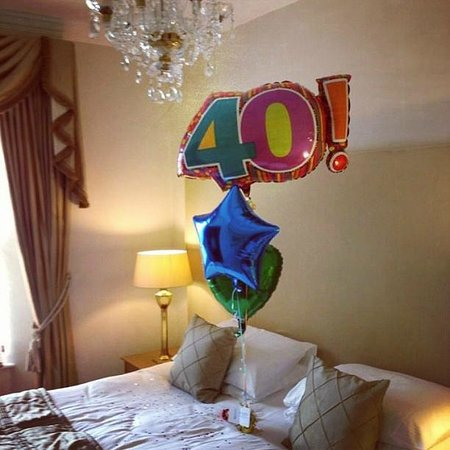Haytor Hotel: Our room with a surprise for my husband.