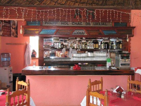 Ppapp Hol Chac de Uxmal : Barra del restaurante