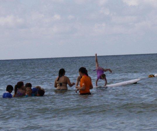 Sanibel Sea School Day Program: What happens when you combine gymnastics with surfing!