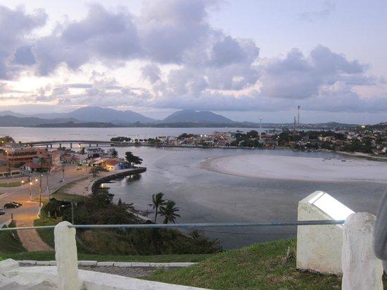 Pousada Santa Monica: view from hillside church in Saquerema