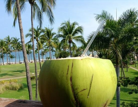 Club Med Ixtapa Pacific: Free coconut!