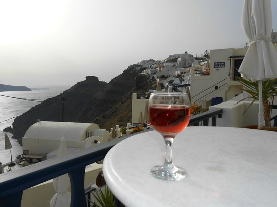 Santorini View: Evening view from balcony
