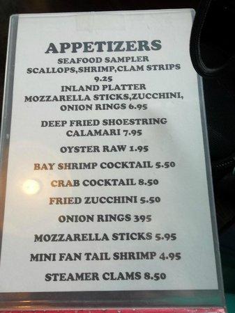 Captain's Choice Family Fish House: Yummy starters...