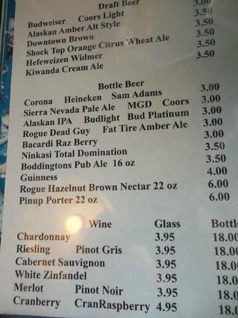 Captain's Choice Family Fish House: Beer, wine.