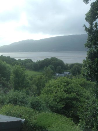 The Slate Shed B &B at Graig Wen: view toward Barmouth from our bedroom window
