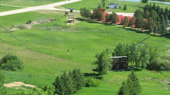 Holiday Mountain Resort: Zipline landing platform