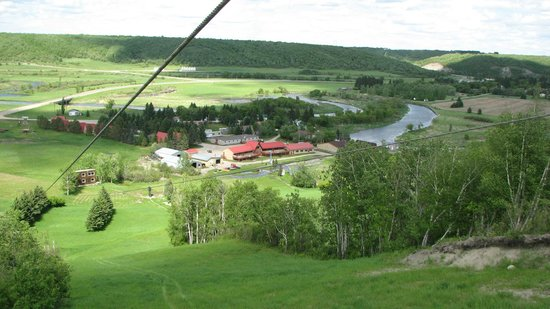 Holiday Mountain Resort: View from the top of Air Holiday Ziplines