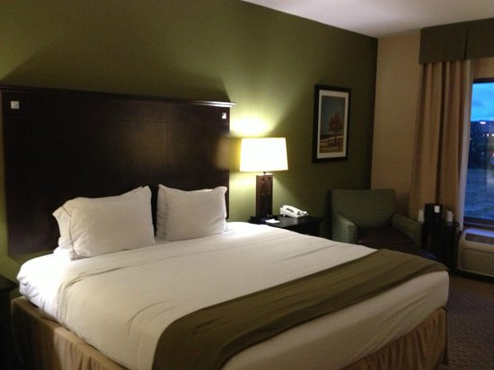 Holiday Inn Express Hotel & Suites Opelika Auburn: Very relaxing decor, comfortable bedding