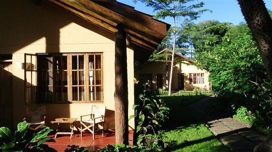 Arumeru River Lodge: Our room from outside
