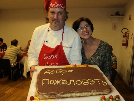 Schio Hotel : Шеф Роберто приготовил  вкуснейший тирамису