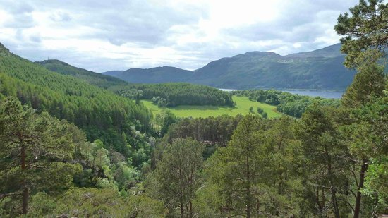 The Falls of Foyers: Aussicht hin zum Loch Ness