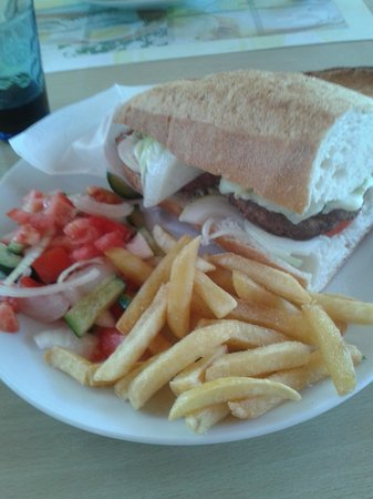 Balkaya Hotel: One of our lunch meals... the sandwhich was massive!!