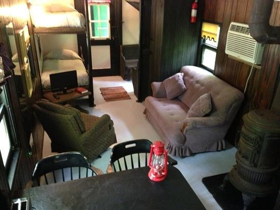Caboose Junction Resort: inside one of the cabooses