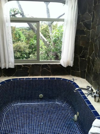 Finca Rosa Blanca Coffee Plantation Resort: tiled tub was beautiful
