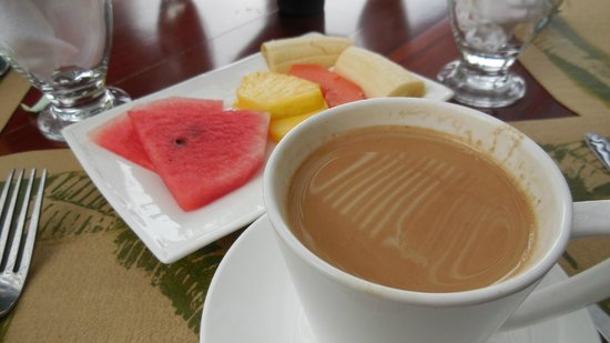 Finca Rosa Blanca Coffee Plantation Resort: Breakfast included. Coffee, of course was the best we ever had.