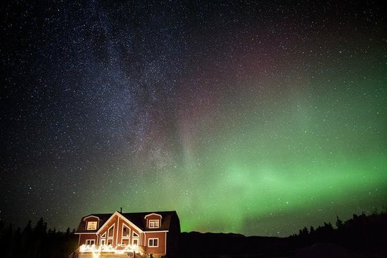 Takhini River Lodge: Milky way and Northern lights