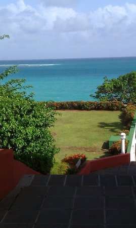 Auberge de la Vieille Tour: Ocean view, hotel grounds