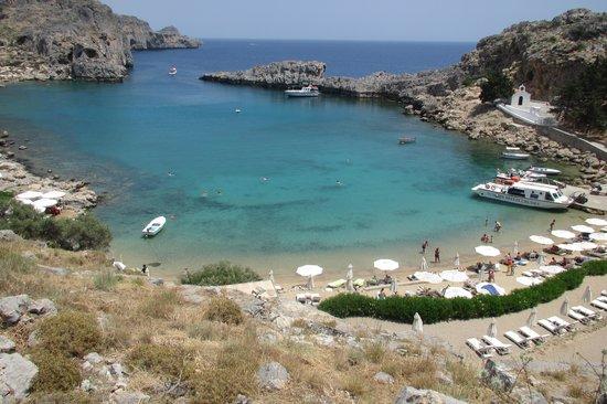 Agios Pavlos Beach (Saint Paul) : Beach view