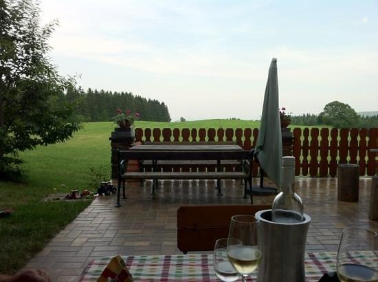 Trahutten, Austria: uitzicht vanaf terras