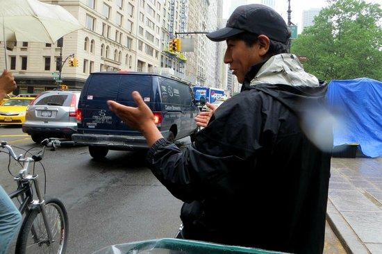 Central Park Pedicab Tours : Our guide :)