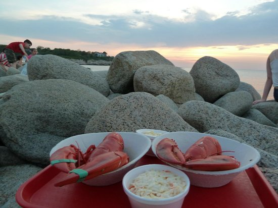 Beach Knoll Inn: sunset at the lobster pool 5 miles down just beyond  halibut state point park -byob