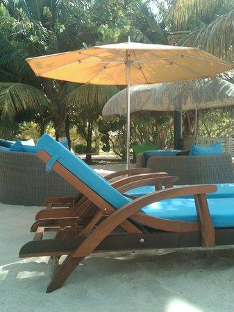 Mount Cinnamon Resort & Beach Club : Perfect beach setup