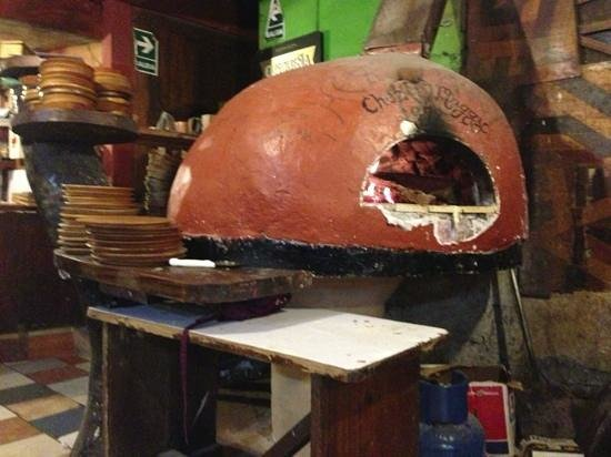 Chez Maggy: wood burning pizza oven, unless a corona box is around, in which case that goes in too