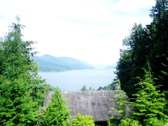 Sechelt Inlet B&B : View from the Hottub