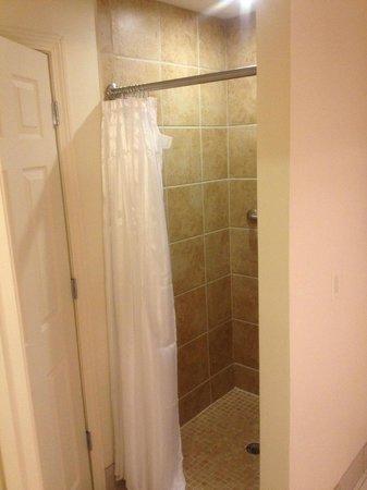 The Daniel: Shower is hidden behind the door from the bedroom - King Suite
