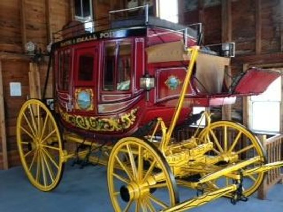 Newfield, ME: Restored carriage at Willowbrook Village