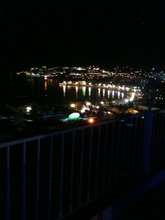 Berg Otel: The view from the Berg Terrace bar at night.