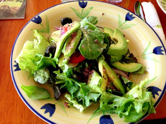 Soups and Such Cafe: House Salad with House Dressing add Avocado