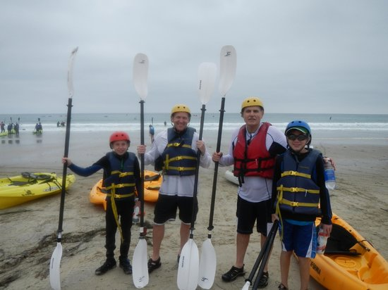 OEX La Jolla : Our group after the best part coming in on the waves!