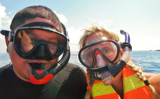 Holbox Adventure: Jesus and I about to jump in!